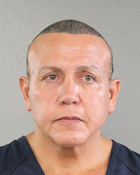Cesar Sayoc of Aventura, Fla., will be held without bail on charged that he sent several bomb threats to critics of President Donald Trump. Photo courtesy of Broward County Sheriff's Office
