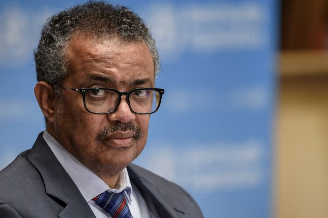 China said Monday it disagrees with a World Health Organization proposal from WHO Director General Tedros Adhanom Ghebreyesus for a new audit of Chinese laboratories. File Photo by Fabrice Coffrini/EPA-EFE