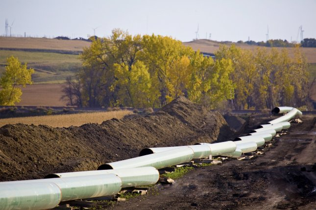 Construction of the Keystone XL pipeline is shown in North Dakota. The pro-energy platform in the Republican party centers on the controversial pipeline from Canada. (courtesy TransCanada)
