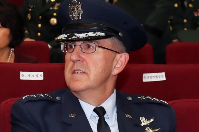 Air Force Gen. John Hyten denied allegations that he sexually assaulted a colonel. Photo by Yonhap/EPA-EFE