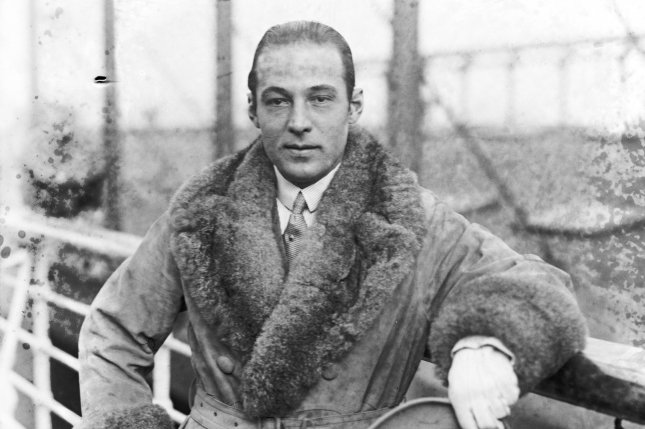 Rudolph Valentino, famed silent film actor known for his breakout role in The Sheik, died August 23, 1926. File Photo by Library of Congress/UPI