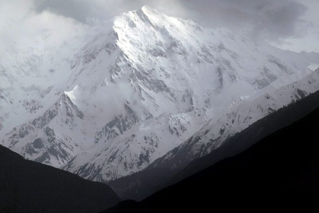 A view of the Nanga Parbat, the ninth highest peak in the world and the westernmost mountain of the Himalayas. The bodies of a British and Italian climber who disappeared about two weeks ago on the mountain have been found, officials confirmed Saturday. File photo by Olivier Matthys/EPA