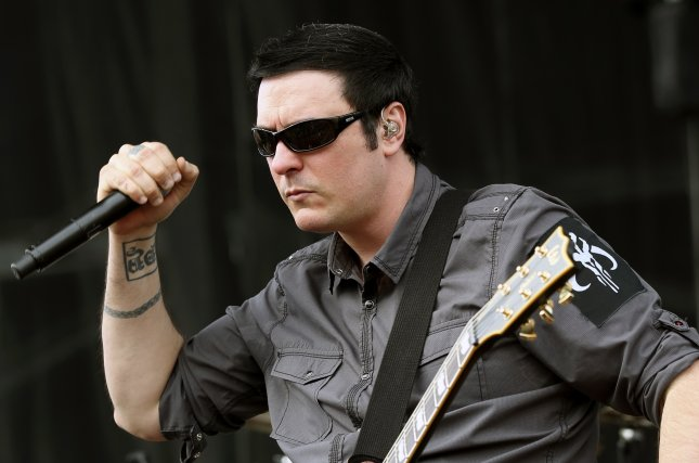 Benjamin Burnley of Breaking Benjamin performing live. The band has announced a new tour. File photo by Steve C. Mitchell/EPA