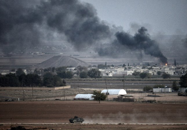Islamic State militants have abducted at least 170 workers from a cement factory near Damascus, Syria, state-run media reported Thursday. The Syrian Observatory for Human Rights said about 140 people also escaped during the attack on the factory. Photo by Orlok/ Shutterstock.com