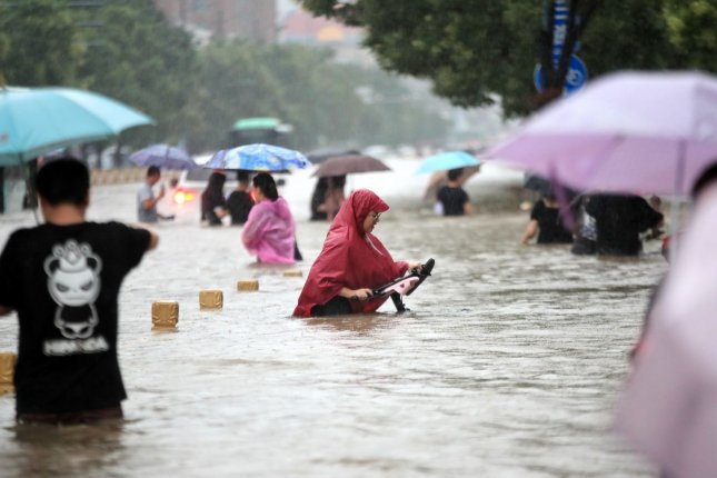 Henan Province released a new death toll Monday after floodwaters swept through the city of Zhengzhou, the capital, in late July. Photo by EPA-EFE