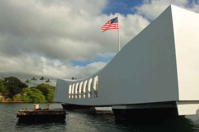 USS Arizona Memorial in Pearl Harbor, Hawaii. The memorial will be closed until at least June 4, after a hospital ship collided with docks leading to it. File Photo by Renee Vititoe/Shutterstock