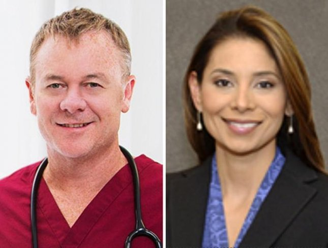 Police said engaged doctors Richard Field (L) and Lina Bolaños were bound and killed in South Boston on Friday. Photos courtesy North Shore Pain Management and Massachusetts Eye and Ear