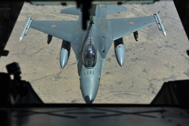 The U.S.-led international coalition is accused of carrying out airstrikes that killed 106 family members of the Islamic State in the IS-held Syrian city of al-Mayadin. File Photo by Staff Sgt. Marjorie A. Bowlden/U.S. Air Force