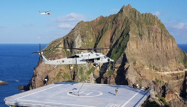 The South Korean armed forces conclude exercises to defend the easternmost islets of Dokdo on Monday. Photo by Yonhap