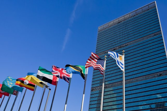 United Nations headquarters in New York City. The report was released ahead of World Water Day on Sunday. File Photo by blurAZ/Shutterstock.