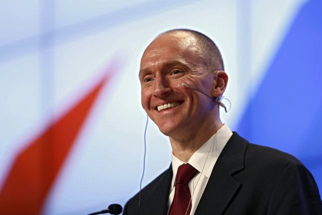 Redacted applications for surveillance warrants on Carter Page were released Saturday by the Justice Department. Page, who served as a foreign policy adviser to President Donald Trump as he was campaigning for president, has been under investigation by U.S. intelligence agencies for alleged contact he has had with Russian officials under U.S. sanctions. Photo by Yuri Kochetkov/EPA-EFE