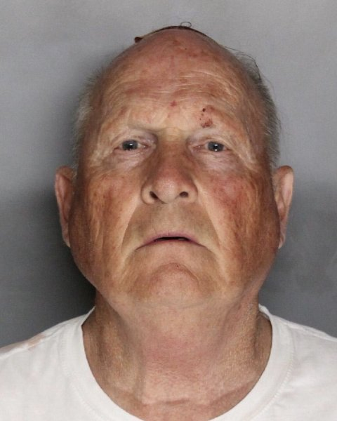 Joseph James DeAngelo booking mugshot April 25, 2018. Suspected of being the so-called East Area Rapist, Golden State Killer and Original Night Stalker. File Photo courtesy of the Sacramento County Sheriff's Office