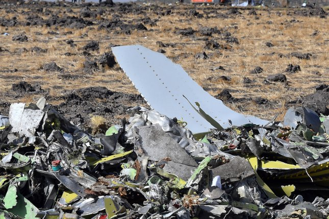 Flight recorder data from the Ethiopian Airlines Boeing 737 Max 8 crash showed clear similarities to a Lion Air crash involving the same model of plane in October, Ethiopia's transport minister said Sunday. Photo by EPA
