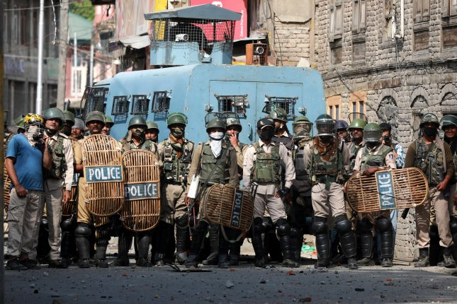 The United Nations called for an international probe Thursday into human rights violations in Kashmir. Photo by Farooq Khan/EPA-EFE