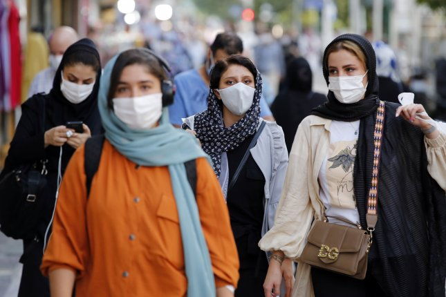 The highly contagious Indian and South African variants of COVID-19 are spreading like wildfire against the largely unvaccinated population of Iran. File Photo by Abedin Taherkenareh/EPA-EFE