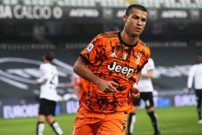 Juventus striker Cristiano Ronaldo missed five games due to a COVID-19 infection before he returned to score twice against Spezia on Sunday in Cesena, Italy. Photo by Pasquale Bove/EPA-EFE