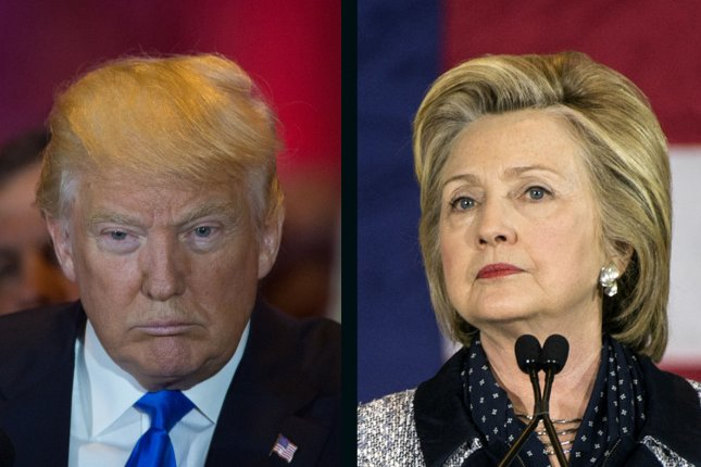 Donald Trump and Hillary Clinton remain locked in a virtual tie in Tuesday's UPI/CVoter daily presidential tracking poll. UPI file