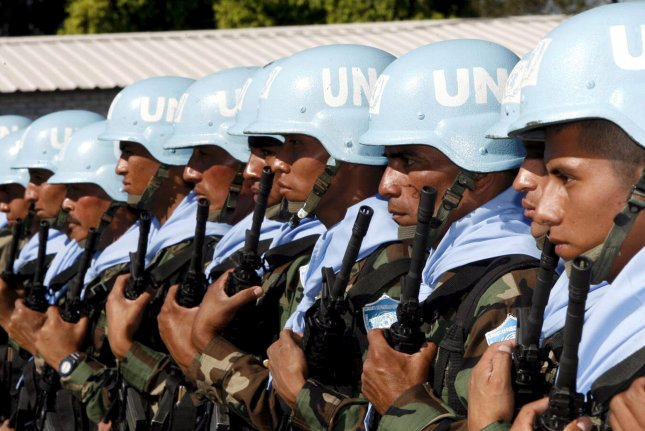 Two United Nations peacekeepers, part of a brigade known as the blue helmets, were killed in a mortar attack in Mali, U.N. Secretary General Antonio Guterres said Friday. File Photo by EPA-EFE