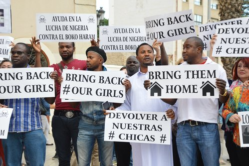 Americans kidnapped by jihadist groups are executed at a rate nearly four times higher than other Western hostages, West Point terrorism experts said. Pictured: Nigerians protest against the Boko Haram for kidnapping more than 200 girls from a school in 2014. Photo by SnapShot Photos/Shutterstock