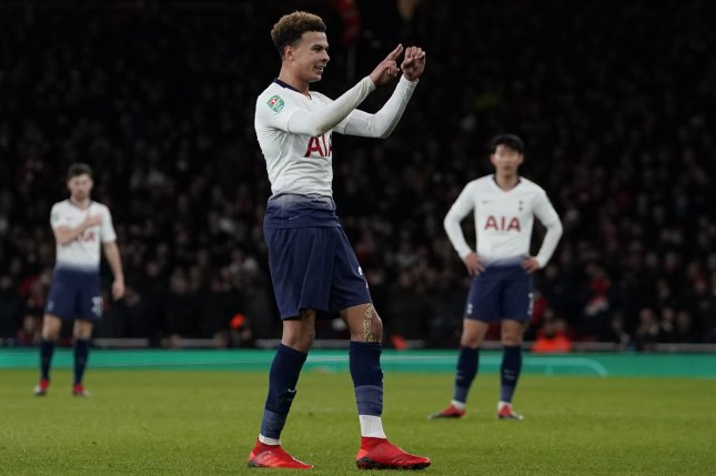 Tottenham's Dele Alli said he had a horrible experience during a home robbery Wednesday in London. Photo by Will Oliver/EPA-EFE