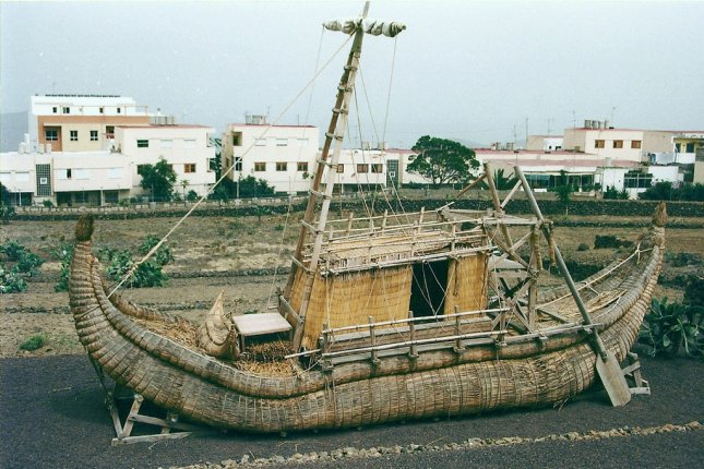 On May 17, 1970, Norwegian explorer Thor Heyerdahl set sail from Morocco in a papyrus boat called the Ra II, modeled on drawings of ancient Egyptian vessels. File Photo by Pedro Ximenez/Wikimedia Commons