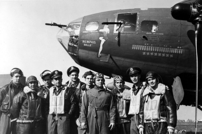 On May 17, 1943, the Memphis Belle became the first B-17 to complete 25 missions in World War II, securing the plane and crew's reputations as rockstars. File Photo courtesy of the U.S. Air Force