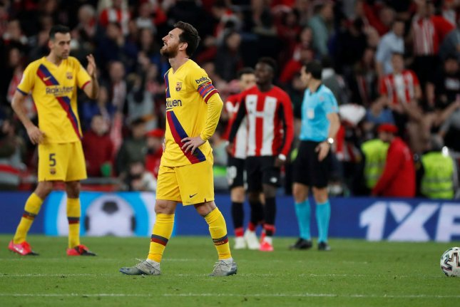 Lionel Messi and FC Barcelona had appeared in the previous six Copa del Rey finals, before being knocked out by Athletic Bilbao in the quarterfinals Thursday in Bilbao, Spain. Photo by Miguel Tona/EPA-EFE