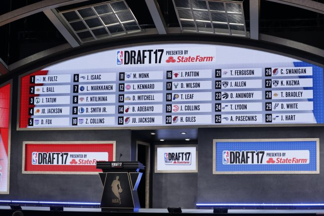 The NBA Draft typically takes place in June, but due to the league's schedule being pushed back because of the COVID-19 pandemic, the 2021 draft will happen in late July. File Photo by Jason Szenes/EPA
