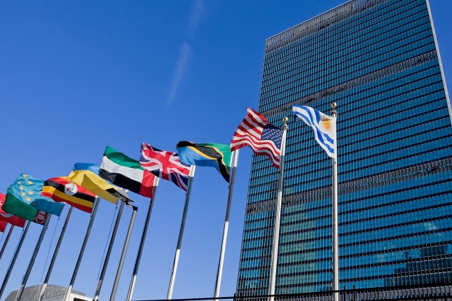 United Nations headquarters in New York City. The United States defended its human rights record but recognized progress needs to be made before a council of the United Nations in Geneva, Switzerland. File Photo by blurAZ/Shutterstock.