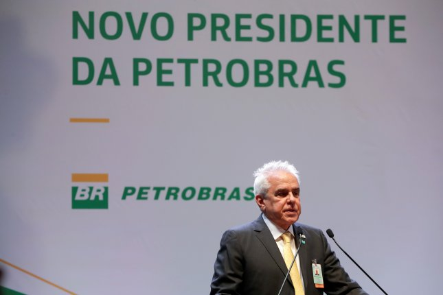 Roberto Castello, new president of Petrobras, as he delivered a speech during a transfer of powers ceremony in the headquarters of the company in Rio de Janeiro on January 3. Photo by Antonio Lacerda/EPA EFE
