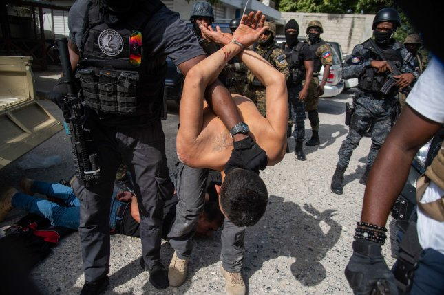 A top Haitian official said Thursday that at least one U.S. citizen is believed to be among six people arrested following the assassination of Haitian President Jovenel Moise. Photo byJean Marc Herve Abelard/EPA-EFE