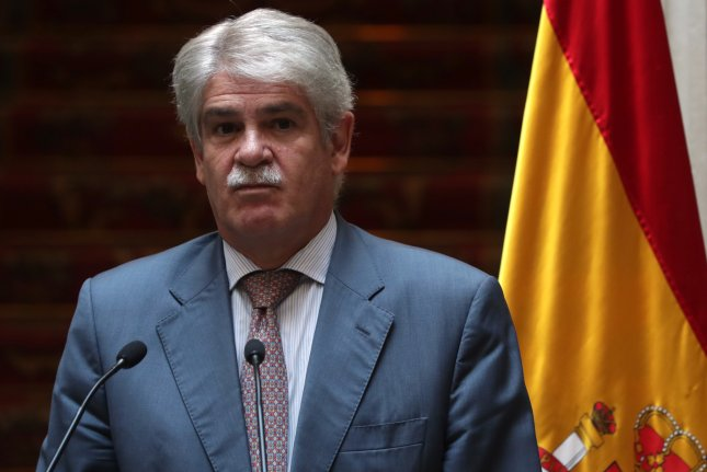 Spanish Foreign Minister Alfonso Dastis denied accusations that Prime Minister Mariano Rajoy's government is executing a de facto coup d'etat by invoking Article 155 of the Spanish Constitution to take control of the country's semi-autonomous Catalonia region. Photo by ZIPI/EPA-EFE