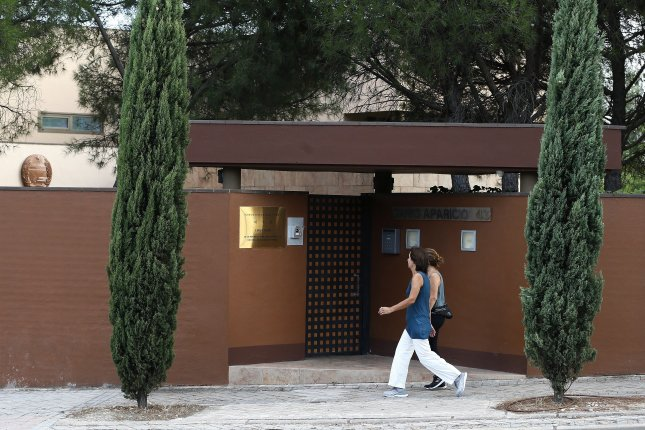 The entrance to the North Korean Embassy in Madrid, Spain. Photo by Mariscal/EPA-EFE