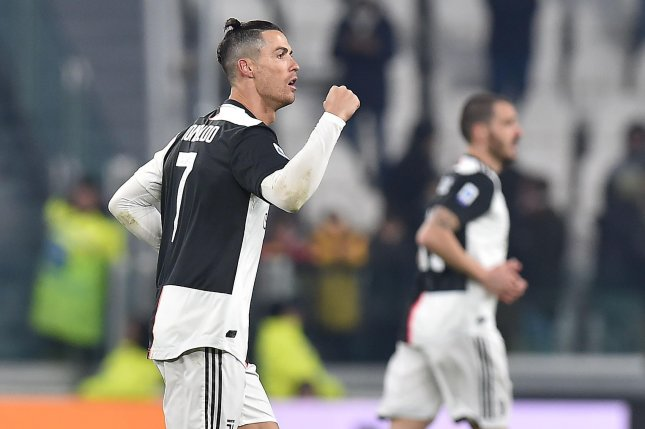 Cristiano Ronaldo has 736 career goals after scoring twice during a win against Parma. Photo by Alessandro Di Marco/EPA-EFE