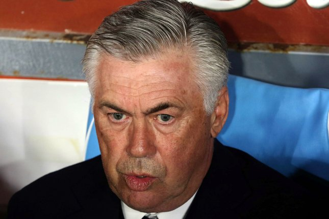 Napoli manager Carlo Ancelotti signed a three-year contract with the Serie A club in 2018. Photo by Cesare Abbate/EPA-EFE