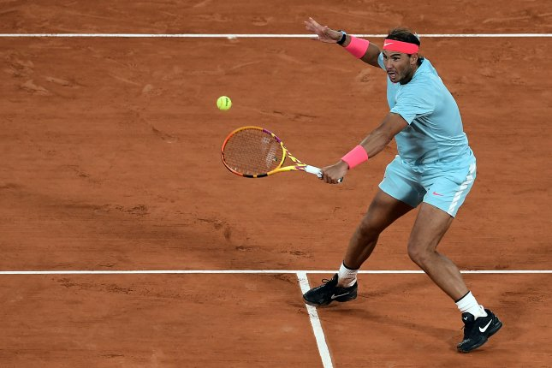 Rafael Nadal (pictured) beat Jannik Sinner in a French Open quarterfinal match on Tuesday at Roland Garros in Paris. Photo by Julien De Rosa/EPA-EFE