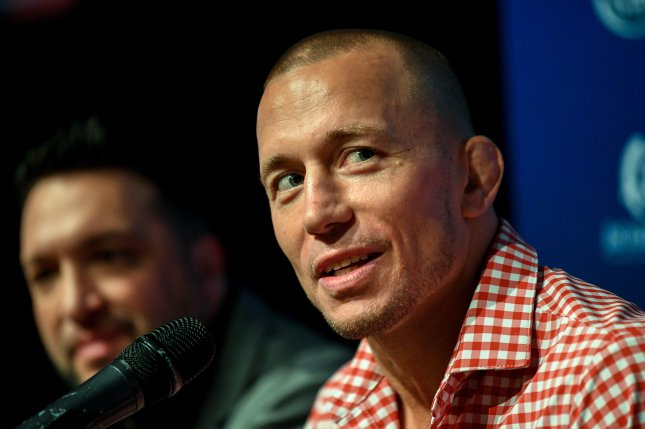 Canadian mixed-martial artist and UFC fighter Georges St-Pierre (R) was hoping to fight Khabib Nurmagomedov this year, but a bout never materialized. Photo by Brendan Esposito/EPA-EFE