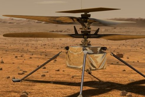 The Ingenuity Mars Helicopter is prepared for launch from Florida. Image courtesy of NASA