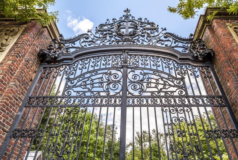 Harvard University's iron gate in Cambridge, Massachusetts, is shown. File Photo by Marcio Jose Bastos Silva/UPI/Shutterstock