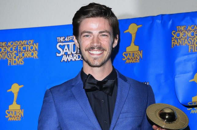 Grant Gustin tied the knot with LA Thoma at a wedding Saturday in Los Angeles. File Photo by Nina Prommer/EPA