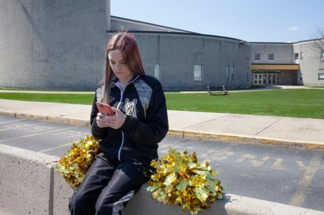Brandi Levy, who was upset that she didn't advance from the junior varsity to the varsity cheerleading squad, was punished by her school after sending a profane Snapchat to 250 friends while she was hanging out at a local convenience store on a Saturday in 2017. Photo by Danna Singer/via ACLU