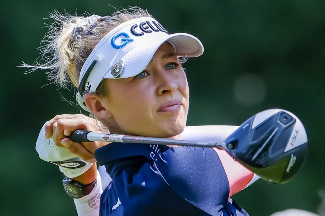 Team USA's Nelly Korda is one stroke back of the lead as the 2020 Summer Games women's golf tournament enters the second round Thursday in Saitama, Japan. Photo by Erik S Lesser/EPA-EFE