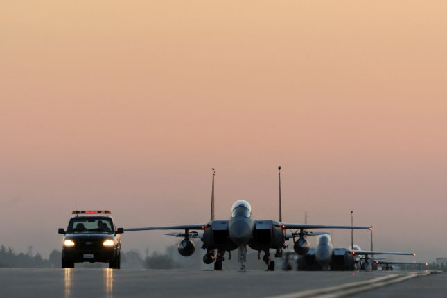 U.S.-led coalition airstrikes have targeted the Islamic State's financial structure for more than a year, decimating the militant Islamist group's cash reserves, according to Air Force Maj. Gen. Peter Gersten. Foreign recruitment by the Islamic State has decreased significantly, as new members often do not receive payment. File photo by USAF Tech. Sgt. Taylor Worley
