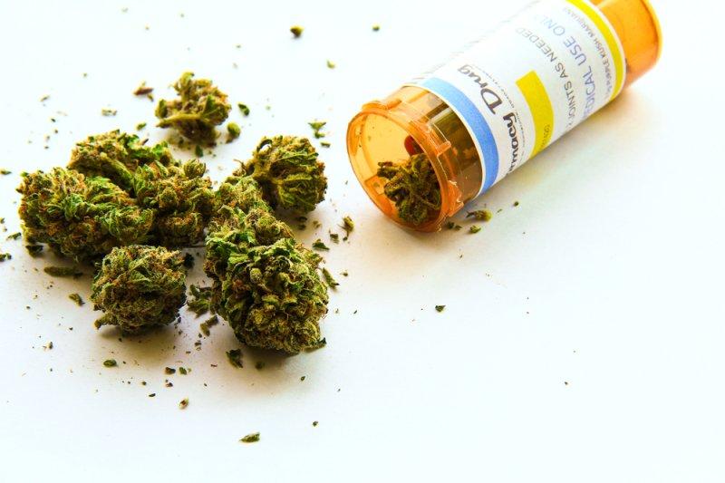 Bottle of marijuana.Photo by Atomazul/Shutterstock.