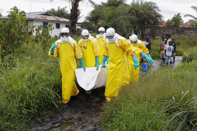 Ebola virus epidemics in Africa in 2014 and 2018 killed thousands of people. The current outbreaks have killed a combined nine people in Guinea and the Democratic Republic of Congo. File Photo by Ahmed Jallanzo/EPA-EFE