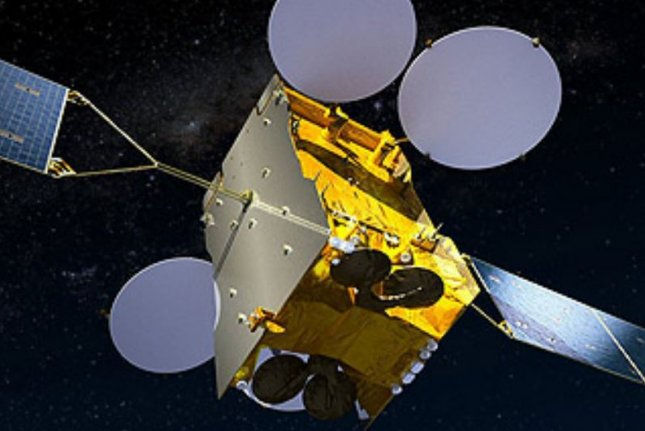 South Korea's ANASIS-II military communications satellite is pictured in an artist's rendering. Image courtesy of Airbus
