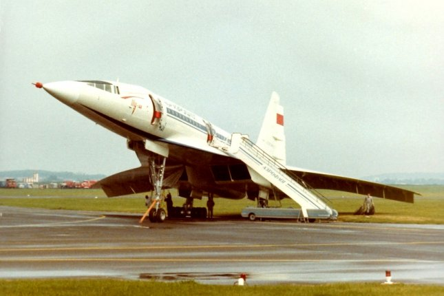 On December 31, 1968, the Soviet Union tested its supersonic airliner, the TU-144, months before the Anglo-French Concorde. File Photo by {link:P.L THILL/Wikimedia: https://commons.wikimedia.org/wiki/File:1973_06_Bourget_TU144_(13).jpg}