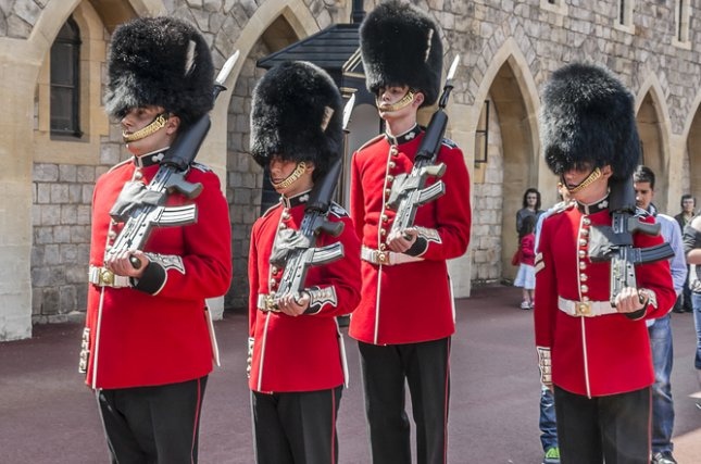 Queen's Guards have been moved to secure locations following possible terrorist threats. Photo by Kiev.Victor / Shutterstock.com