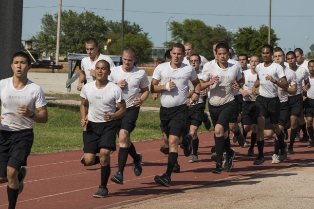 Battlefield Airmen Preparatory Course candidates participate in physical exercises in 2018, at Joint Base San Antonio-Lackland, Texas. Photo by Ismael Ortega/U.S. Air Force