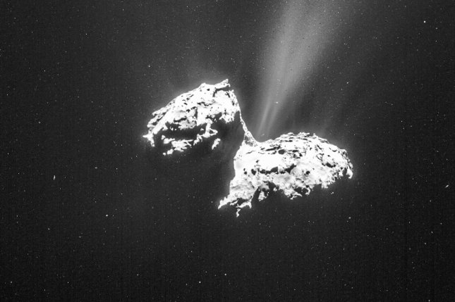 New research suggests 67P/Churyumov-Gerasimenko is likely only a billion years old -- not 4.5 billion years. Photo by UPI/NASA
